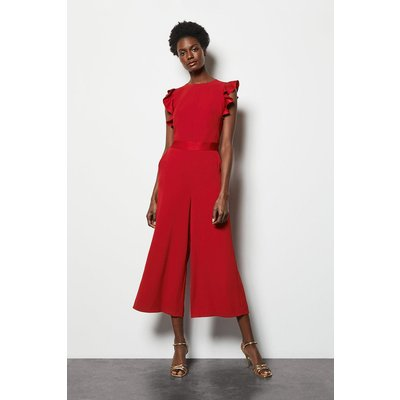 Fit & Flare Jumpsuit Red, Red