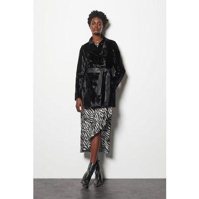 Faux-Fur Coat Black, Black
