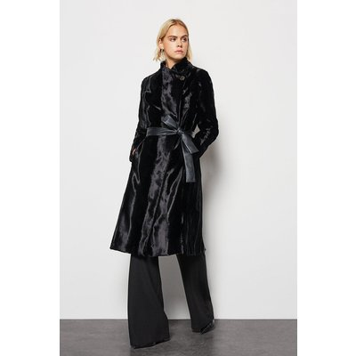 Pony Fur Coat Black, Black