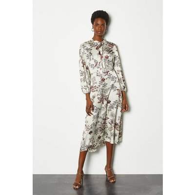 Karen Millen Botanical Print Midi Dress, Floral