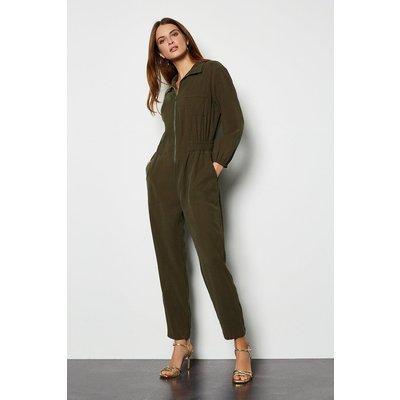 Utility Jumpsuit Green, Khaki/Green