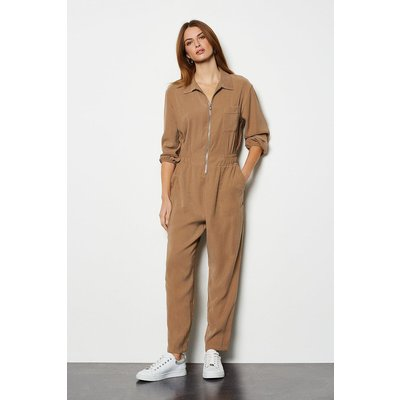 Utility Jumpsuit Stone, Brown