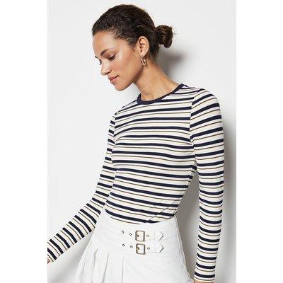 Stripe Long Sleeve Top Multi, Multi