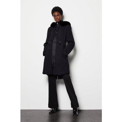 Karen Millen Lightweight Padded Coat, Black