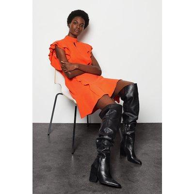 Soft Ruffle Dress Orange, Orange