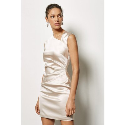 Signature Stretch Asymmetric Dress Champagne, Champagne