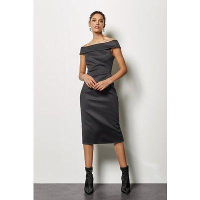 Bardot Badge Dress Black, Black