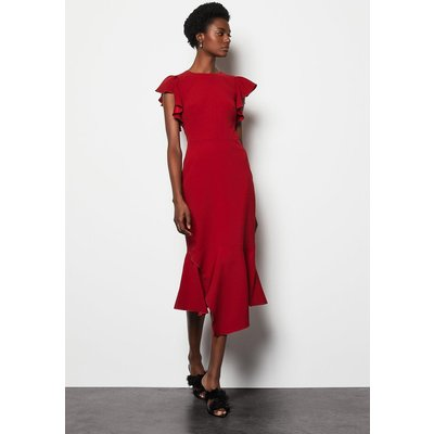 Fit & Flare Dress Red, Red