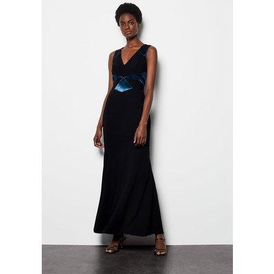 Fishtail Maxi Dress Black, Black