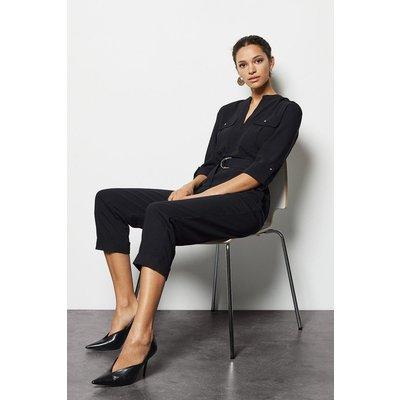 Belted Jumpsuit Black, Black