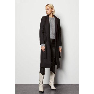 Notch Collar Coat Black, Black