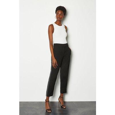 Piping Detail Trouser Black, Black