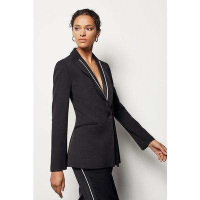 Karen Millen Piping Detail Jacket, Black