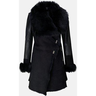 Shearling Coat Black, Black