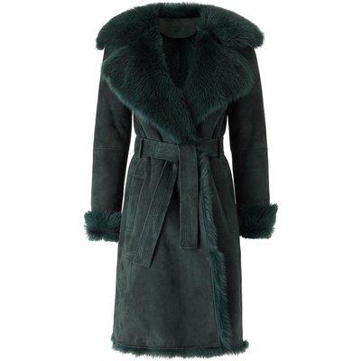 Shearling Coat Green, Green