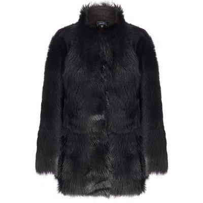 Sheepskin Reversible Coat Black, Black