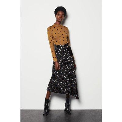 Scattered Dot On Stripe Skirt Multi, Multi