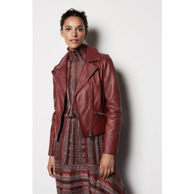 Leather Jacket Red, Red
