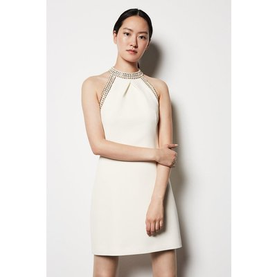 Chain Detail Dress Ivory, Ivory