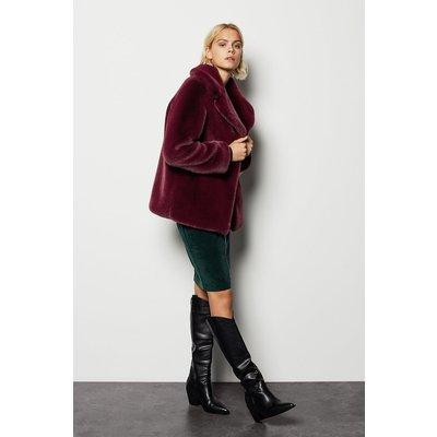 Karen Millen Faux Fur Jacket, Red