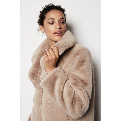 Faux Fur Jacket Natural, Natural