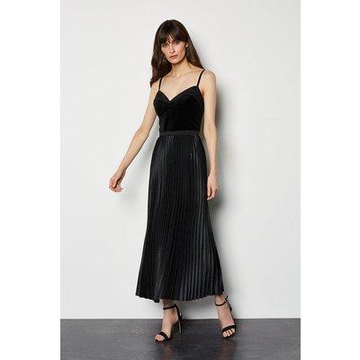 Karen Millen Evening Luxe Pleated Dress, Black