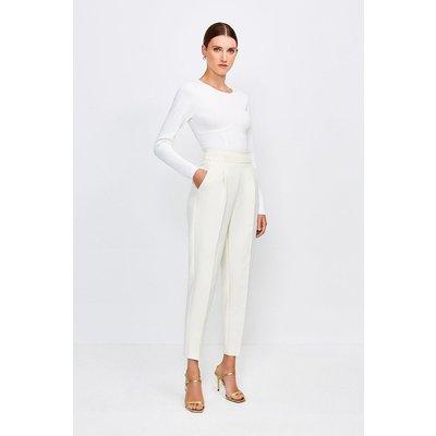 Karen Millen Tailored High Waist Trouser -, Cream