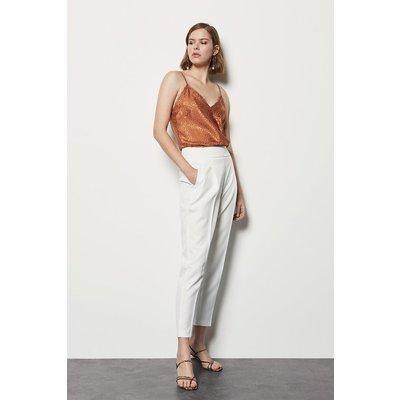 Karen Millen Tailored High Waist Trouser, White