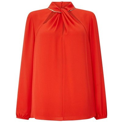 Knot & Chain Blouse Red, Red