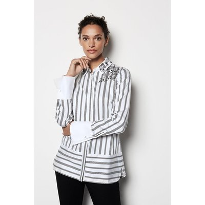 Embellished Striped Shirt Blackwhite, Blackwhite