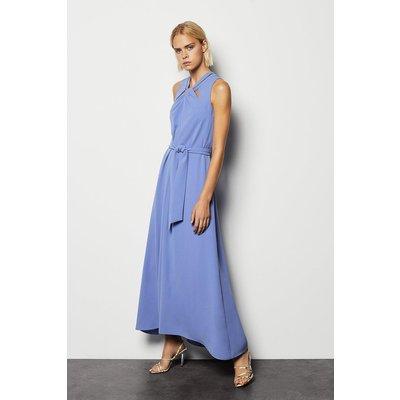 Knot Chain Detail Maxi Dress Blue, Blue