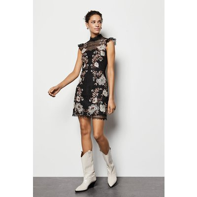 Floral Lace Embroidered Dress Multi, Multi