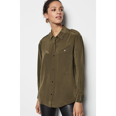 Karen Millen Military Shirt, Khaki/Green