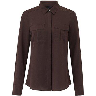 Karen Millen Safari Silk Shirt, Brown