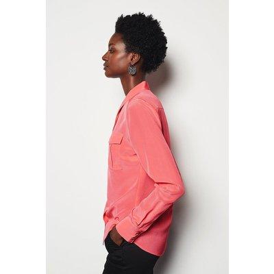 Karen Millen Safari Silk Shirt, Pink
