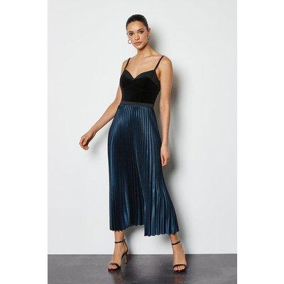 Pleated Maxi Skirt, Multi