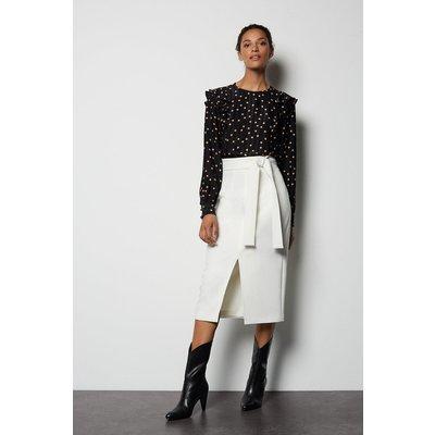 Multi Stitch Pencil Skirt Ivory, Ivory