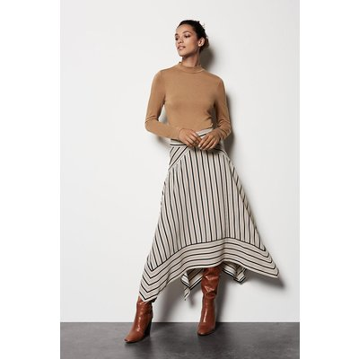 Striped Midi Skirt Multi, Multi