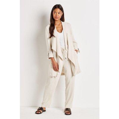 Linen-Look Waterfall Jacket