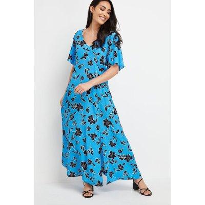 Petite Blue Floral Maxi Dress
