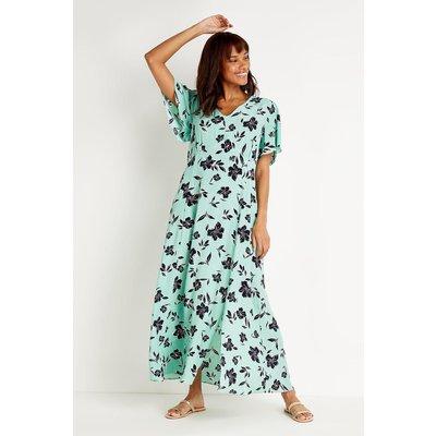 Tall Mint Floral Maxi Dress