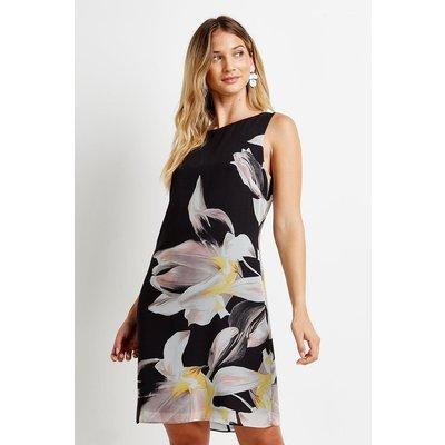 Placement Floral Shift Dress