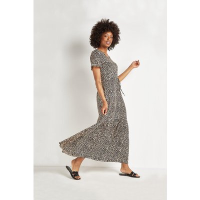 Animal Relaxed Tiered Maxi Dress