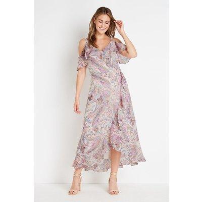 Ivory Paisley Cold Shoulder Dress