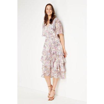 Tiered Paisley Dress