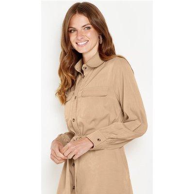 Petite Button Shirt Dress