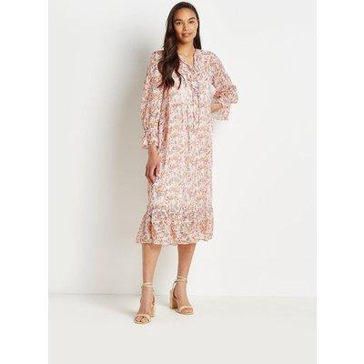 Petite Pretty Ditsy Frill Tiered Midi Dress