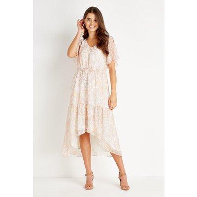 Paisley Shoulder Ruffle Tiered Dress
