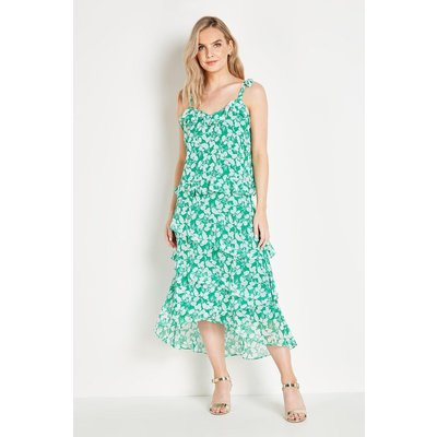 Petite Green Floral Chiffon Cami Top