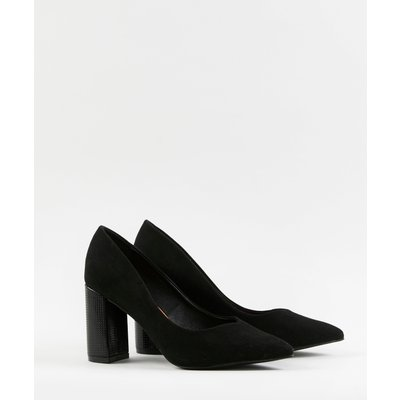 Wide Fit Black Block Heel Shoes